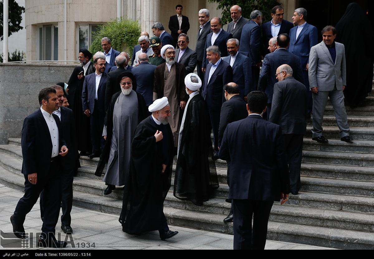 پست خداحافظی روحانی با دولت اولش / آخرین قاب دولت یازدهم + عکس