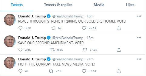 توئیتهای پیاپی دونالد ترامپ از تخت بیمارستان