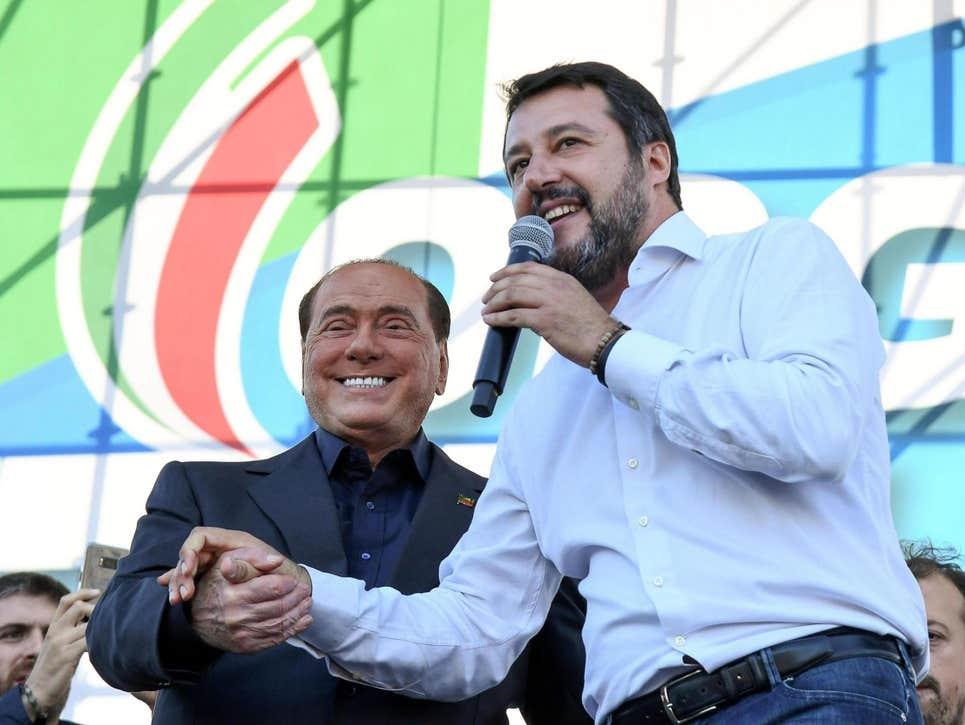 متئو سالوینی و سیلویو برلوسکونی