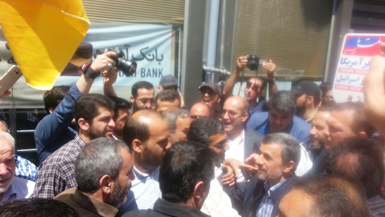 حضور احمدینژاد در راهپیمایی روز قدس
