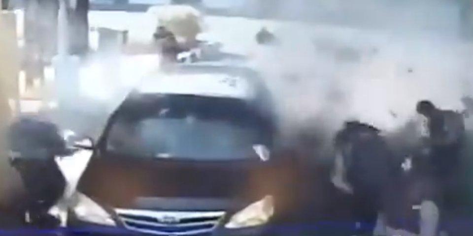 اولین تصویر از لحظه انفجار در ساختمان پلیس اندونزی