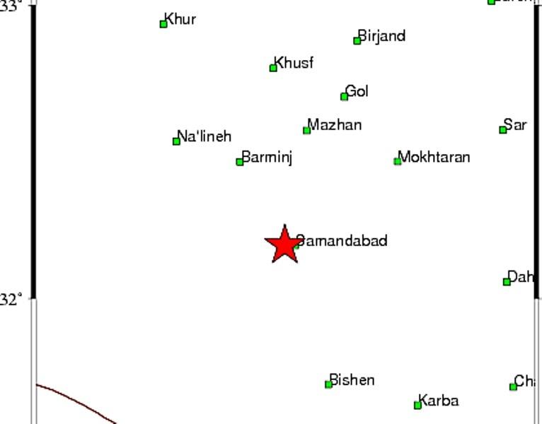 زلزله خراسان جنوبی