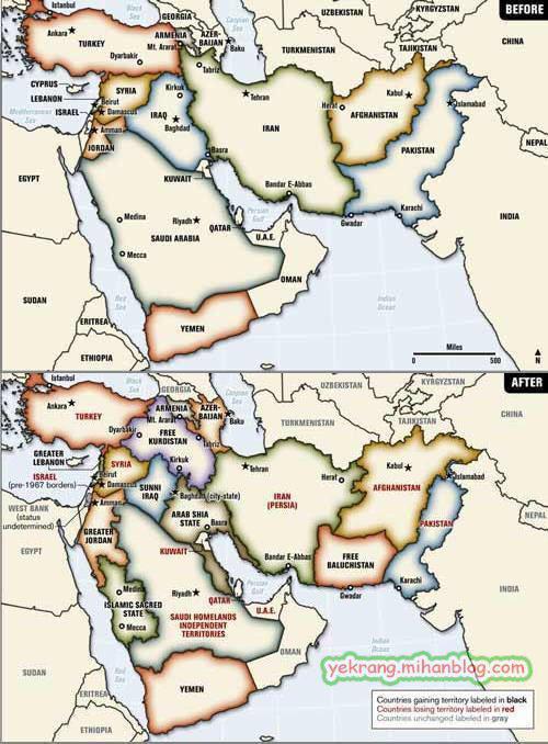 نقشه خاورمیانه