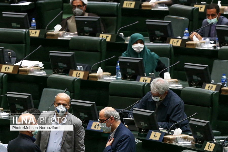 تصاویر جلسه کرونایی مجلس