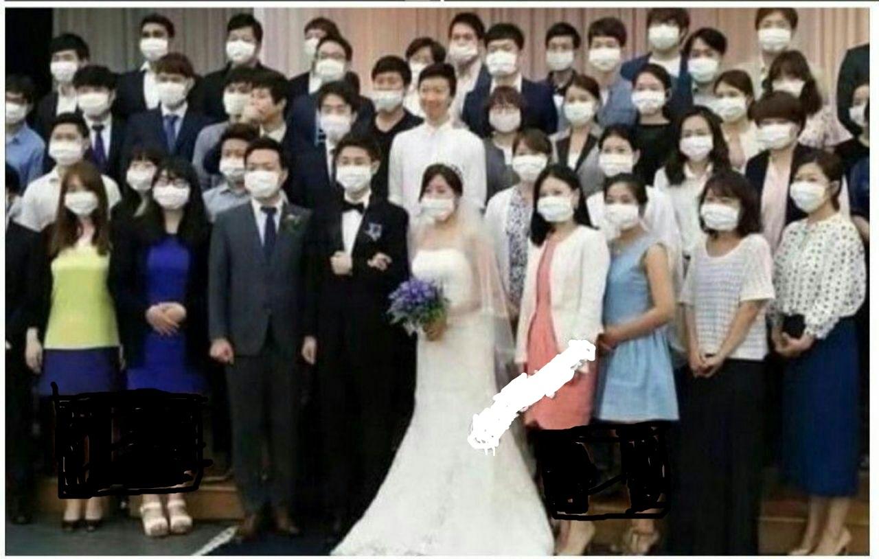 عروسی عجیب در چین از ترس ویروس کرونا