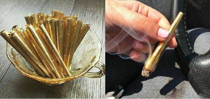 سیگار با روکش طلا