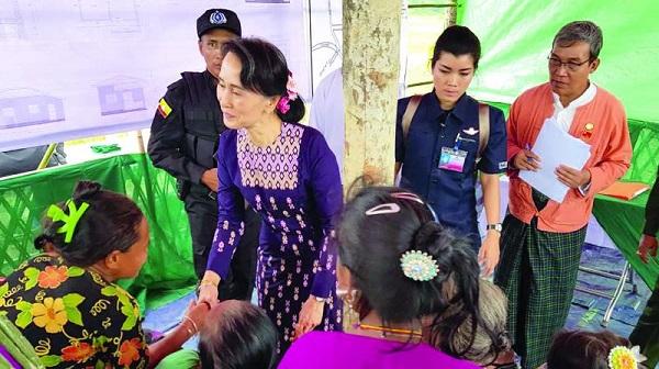 آنگ سان سوچی در استان راخین