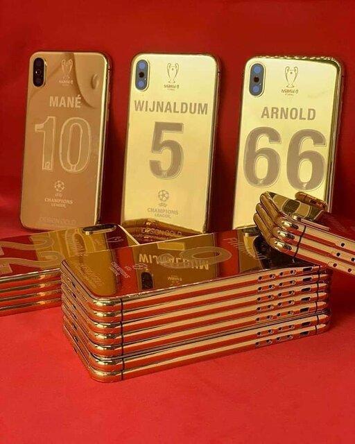 موبایل با روکش طلا