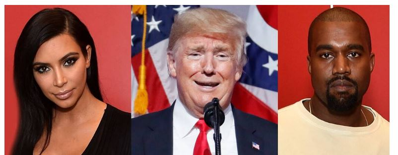 کانیه وست کیم کاردشیان دونالد ترامپ کاندیدای انتخابات 2020
