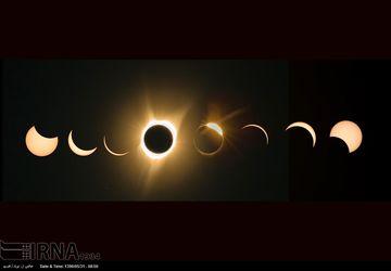 عکس های دیدنی از خورشید گرفتگی کامل در آمریکا