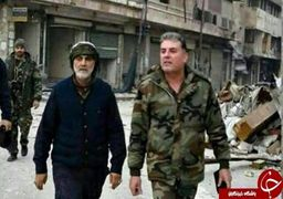 سردار سلیمانی را در خط مقدم جبهه سوریه ببینید /فیلم