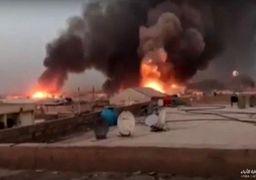 واکنش وزیر دفاع عراق به آتشسوزی در پایگاه هوایی