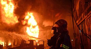 آتشسوزی در  نزدیکی انبار مهمات روسیه