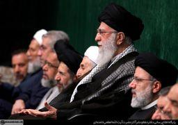 تصاویری از چهرههای سیاسی و نظامی در مراسم عزاداری بیت رهبری