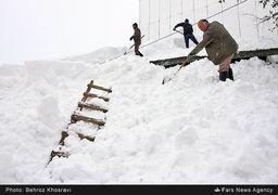 بارش برف سنگین در مازندران