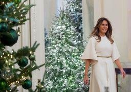 جنجال جدید بر سر عکس کریسمسی همسر ترامپ + عکس