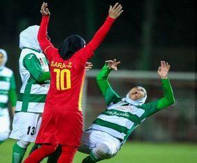 تصاویر کتککاری دختران فوتبالیست در مسابقات لیگ برتر
