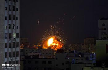 حمله هوایی سنگین اسرائیل به غزه + فیلم
