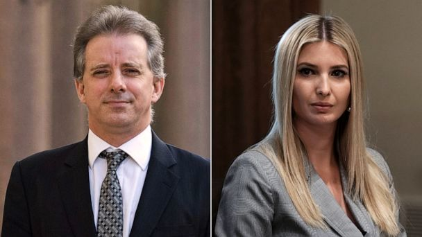 PHOTO: Christopher Steele, left, and Ivanka Trump, right.