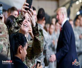 بازدید دونالد ترامپ از یک پایگاه نیروی هوایی آمریکا در آریزونا