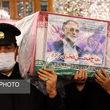 تصاویری از مراسم وداع با پیکر شهید محسن فخریزاده در حرم مطهر رضوی