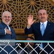 تصاویر دیدار ظریف با وزیرخارجه ترکیه در اصفهان