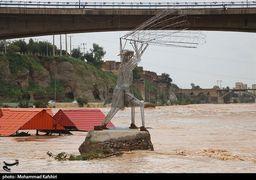 طغیان رودخانه دز در شهرستان دزفول