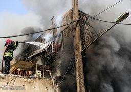 تصاویر آتش سوزی گسترده در پاساژ رضوان اهواز