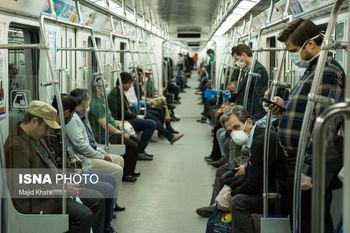 کاهش فاصلهگذاری اجتماعی در متروی تهران