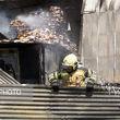 آتش سوزی انبار تجهیزات پزشکی یک مرکز درمانی در خیابان امام خمینی(ره)