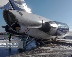 گزارش تصویری از خروج هواپیمای کاسپین از باند فرودگاه ماهشهر