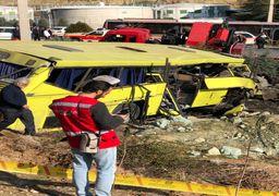 گزارش تصویری از تصادف دانشگاه آزاد واحد علوم تحقیقات تهران