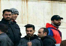 امید عالیشاه تماشاگر بازی پرسپولیس - السد +عکس