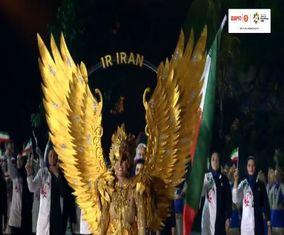 مراسم افتتاحیه بازیهای آسیایی در اندونزی