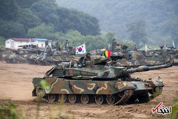 حرکت ستون تانکهای کره جنوبی به طرف مرز کره شمالی + عکس