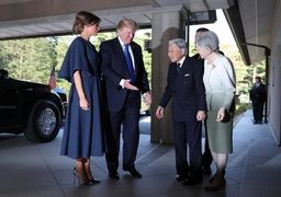 تفاوت جالب برخورد ترامپ و اوباما با امپراتور ژاپن + عکس