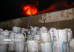 تصاویر انفجار و آتشسوزی در دو کارخانه شهرک شکوهیه قم