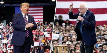کنایه سندرز به ترامپ درباره عدم استقبال از تجمع انتخاباتی وی