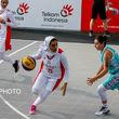 پیروزی تیم بسکتبال سه نفره زنان ایران در مقابل قزاقستان