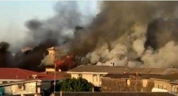 آتش سوزی گسترده در مسجد جامع ساری(عکس)