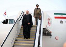 لحظه ورود روحانی به توکیو و استقبال آبه شینزو +فیلموعکس