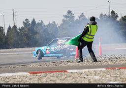 پایان چهارمین راند مسابقه قهرمانی اتومبیل رانی ایران +تصاویر