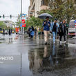 بارش باران در جادههای۳ ۱ستان
