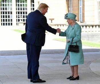 رفیق بازی دونالد ترامپ با ملکه انگلیس /عکس
