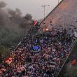 اعتراضات عراق| درگیری معترضان و نیروهای امنیتی در کربلا