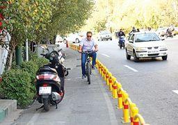 تمام موانع دوچرخه سواری در تهران