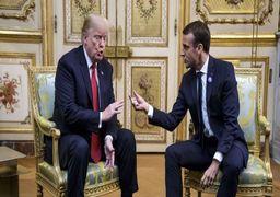 ترامپ: مکرون به ایران علامت اشتباه داده است