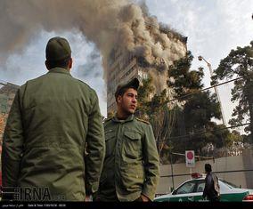 آتش سوزی در ساختمان پلاسکو تهران