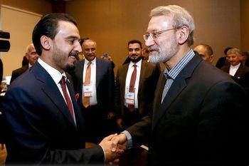 لاریجانی در دیدار با الحلبوسی: عده ای به دنبال ایجاد مساله بین ایران و عراق هستند