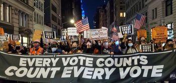 اعتراضهای خیابانی در نیویورک، بوستون و شیکاگو